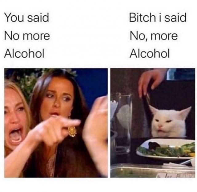 Face - Bitch i said You said No more No, more Alcohol Alcohol