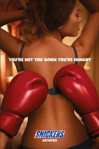 Boxing glove - YOU'RE NOT YOU WHEN YOU'RE HUNGRY SNICKERS SATISFIES