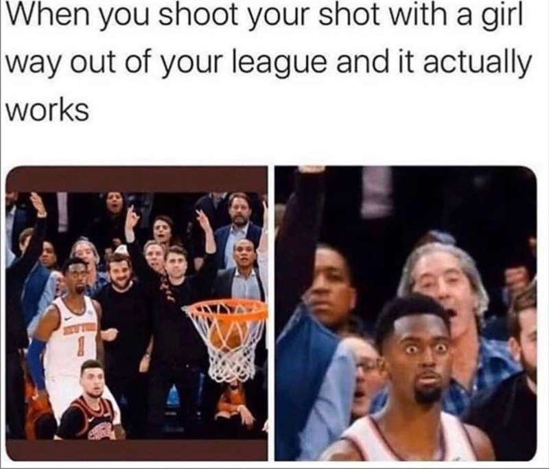 Facial expression - When you shoot your shot with a girl way out of your league and it actually works