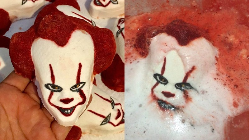 pennywise bath bomb creepy
