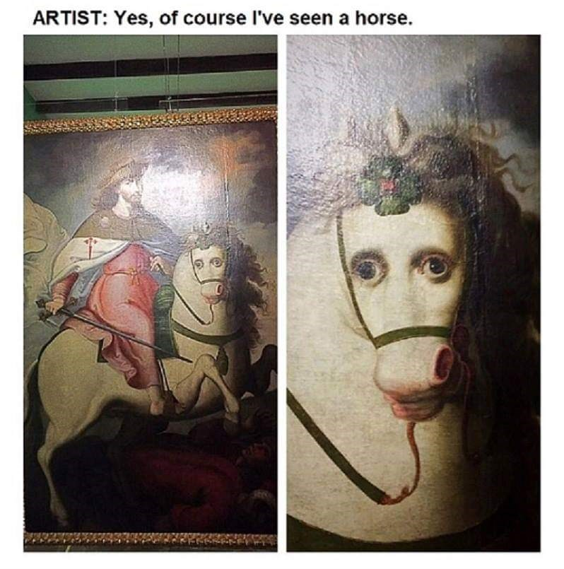 Face - ARTIST: Yes, of course l've seen a horse.