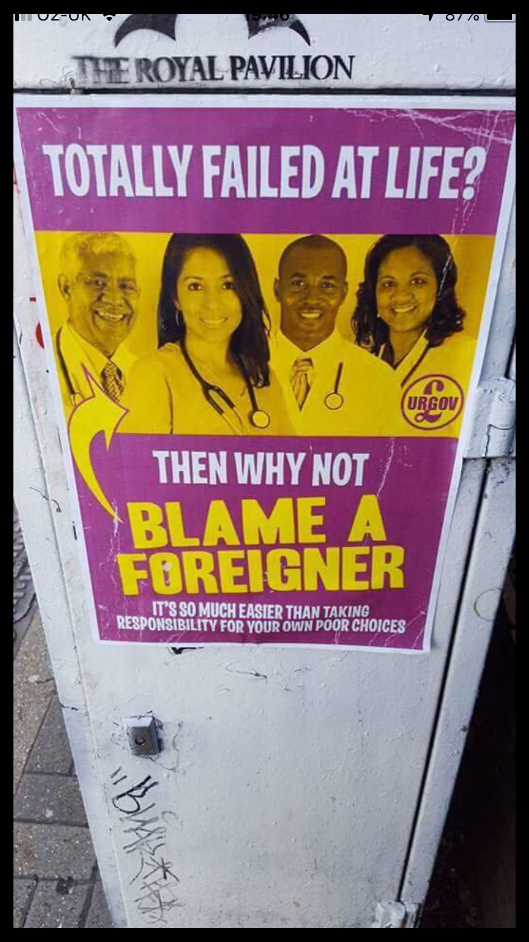 Poster - THE ROYAL PAVILION TOTALLY FAILED AT LIFE? URGOV THEN WHY NOT BLAME A FOREIGNER IT'S SO MUCH EASIER THAN TAKING RESPONSIBILITY FOR YOUR OWN POOR CHOICES