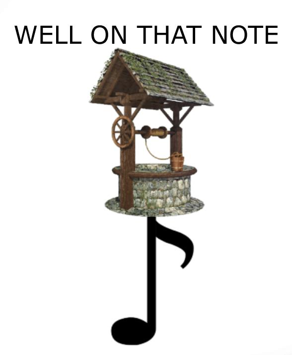 Bird feeder - WELL ON THAT NOTE