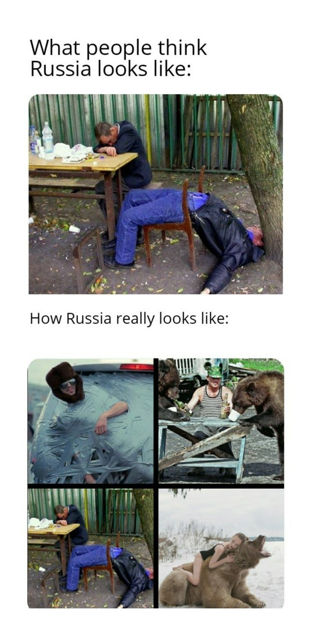 Table - What people think Russia looks like: How Russia really looks like: