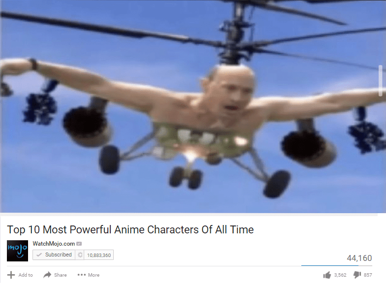 Helicopter - Top 10 Most Powerful Anime Characters Of All Time WatchMojo.com mojo Subscribed a 10,883,360 44,160 + Add to Share ... More 3,562 857
