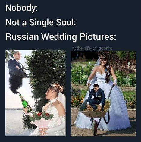 Photograph - Nobody: Not a Single Soul: Russian Wedding Pictures: @the_life of_gopnik