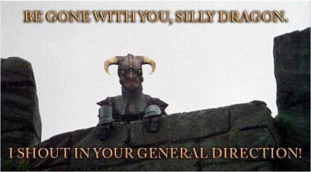 Font - BE GONE WITHYOU, SILLY DRAGON. I SHOUT IN YOUR GENERAL DIRECTION!