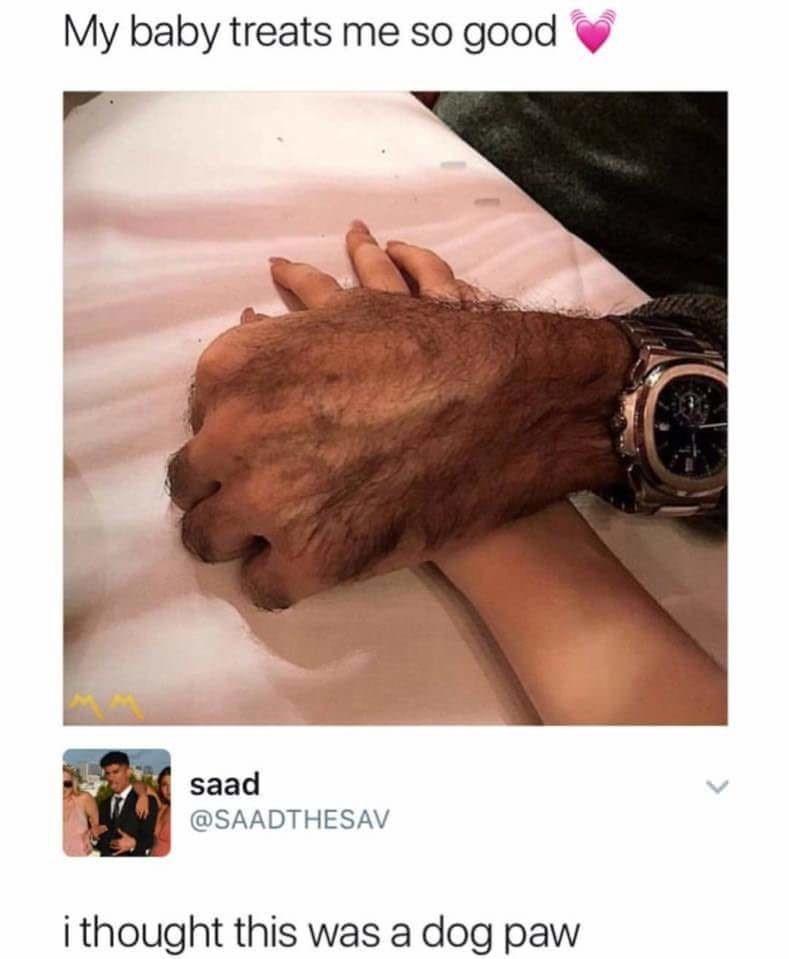 Skin - My baby treats me so good saad @SAADTHESAV i thought this was a dog paw