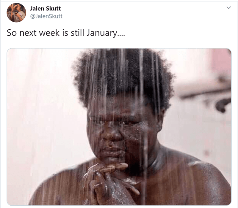 Hair - Jalen Skutt @JalenSkutt So next week is still January..