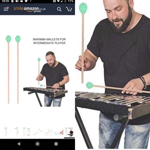 Musical instrument - 18:20 smile.amazon.co.uk prime MARIMBA MALLETS FOR INTERMEDIATE PLAYER
