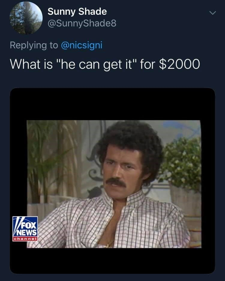 """Adaptation - Sunny Shade @SunnyShade8 Replying to @nicsigni What is """"he can get it"""" for $2000 NEWS channel"""