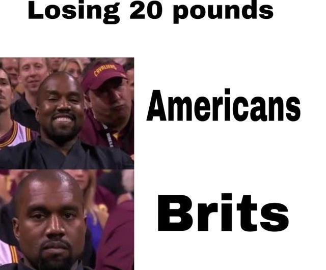 People - Losing 20 pounds CEVALI Americans Brits