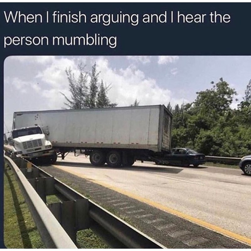 Transport - When I finish arguing and I hear the person mumbling