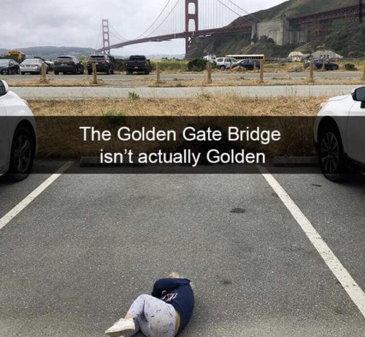 Vehicle - The Golden Gate Bridge isn't actually Golden