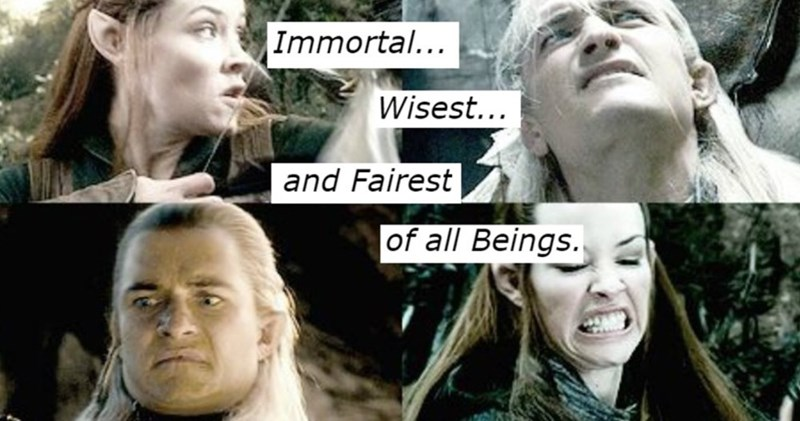 Facial expression - Immortal... Wisest... and Fairest of all Beings.