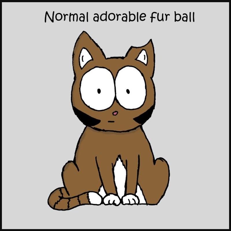Cartoon - Normal adorable fur ball