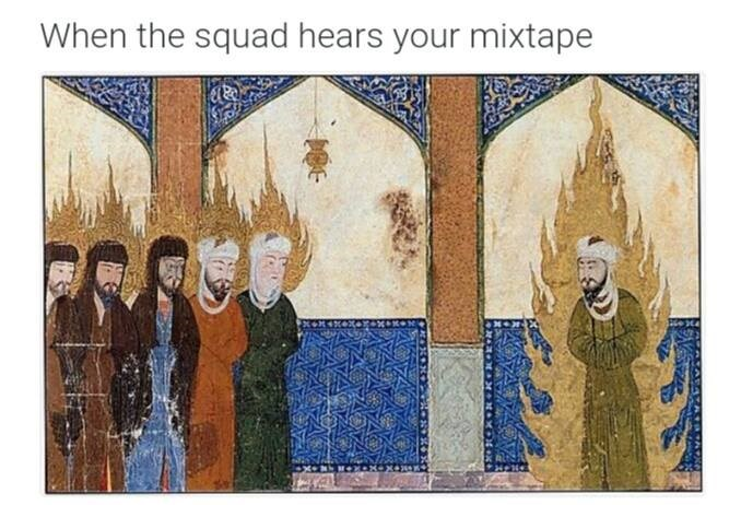 Painting - When the squad hears your mixtape