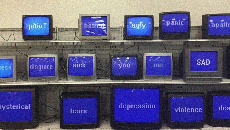 Cobalt blue - panic apath hatret ugly päin7 SAD sick you disgrace me ress depression nysterical dea violence tears