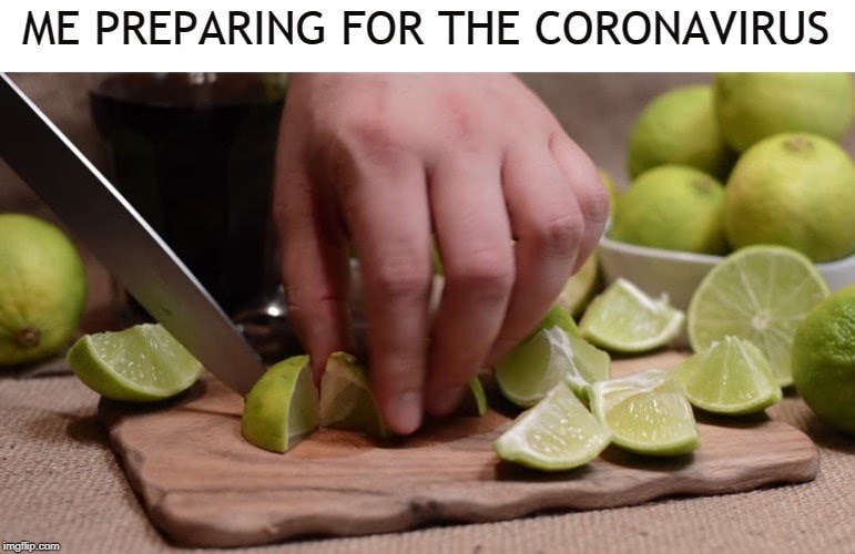 Key lime - ME PREPARING FOR THE CORONAVIRUS imgflip.com