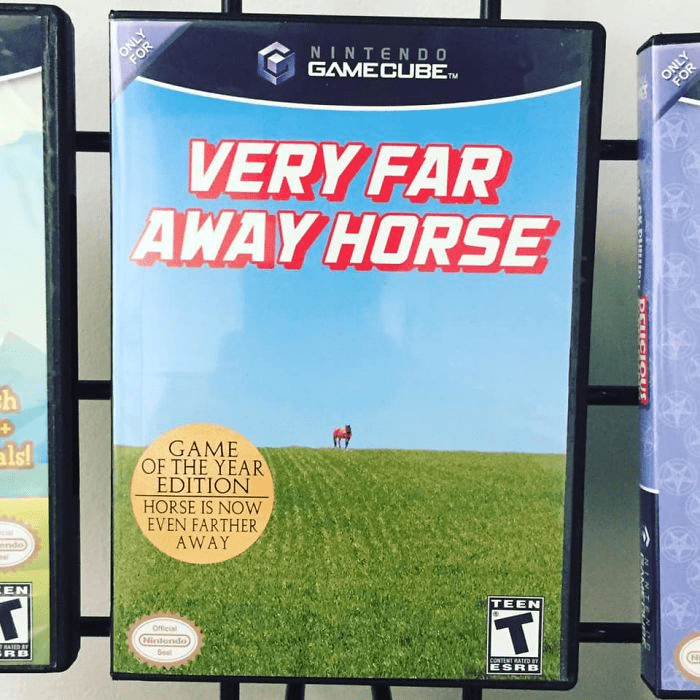 Technology - ONLY NINTENDO GAMECUBE TM ONLY FOR VERY FAR AWAY HORSE alsl GAME OF THE YEAR EDITION HORSE IS NOW EVEN FARTHER AWAY Oficial TEEN (Nintendo CONTENT RATED ESRB FOR DEUCIOUS