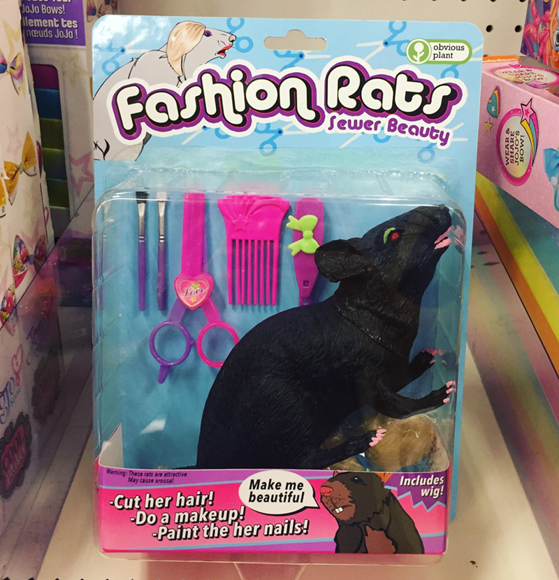 Pink - JoJo Bows! ilement tes neuds JoJo! obvious plant Partlon Rat Rats Sewer Beauty Looe Warning: These rats are attractive May cause arousal Includes wig! Make me beautiful -Cut her hair! -Do a makeup! Paint the her nails! Vimos S.oror WEAR &