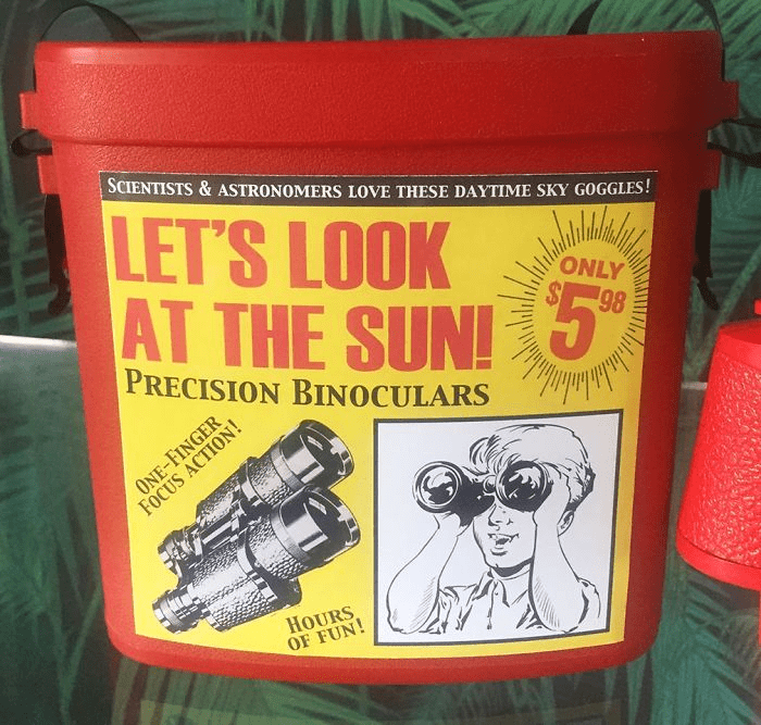 Auto part - SCIENTISTS & ASTRONOMERS LOVE THESE DAYTIME SKY GOGGLES! LET'S LOOK AT THE SUN! 5 ONLY 98 PRECISION BINOCULARS ONE-FINGER FOCUS ACTION! HOURS OF FUN!