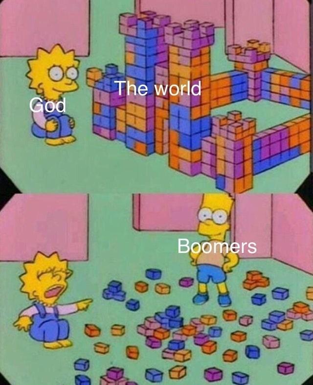 Cartoon - The world God Boomers