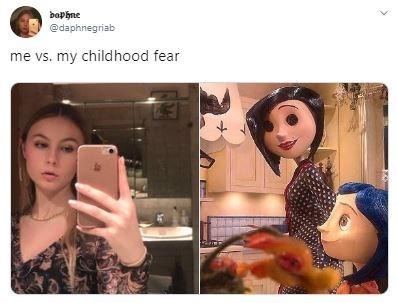 Selfie - baphne @daphnegriab me vs. my childhood fear