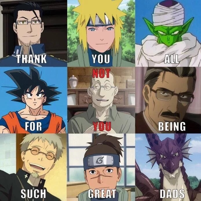 Anime - THANK ALL YOU NOT YOU FOR BEING ŠUCH GREAT DADS