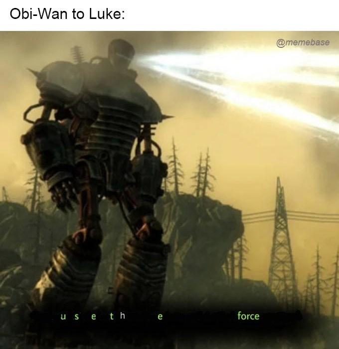 Action-adventure game - Obi-Wan to Luke: @memebase force u s e th e
