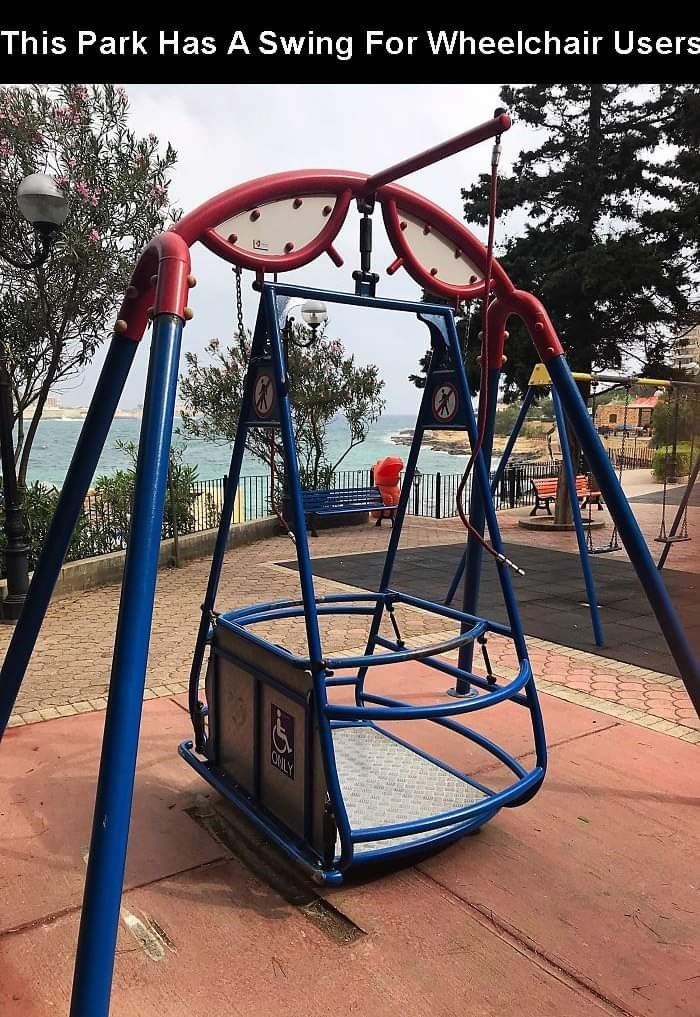 Swing - This Park Has A Swing For Wheelchair Users CHILY