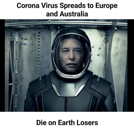 Photography - Corona Virus Spreads to Europe and Australia Die on Earth Losers