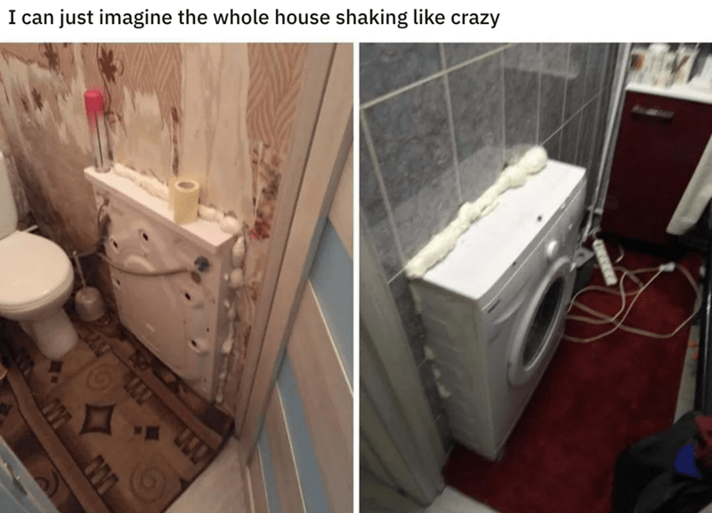 Bathroom - just imagine the whole house shaking like crazy I can