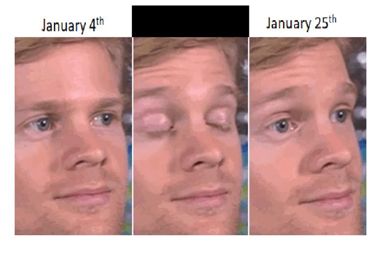 Face - January 4th January 25th