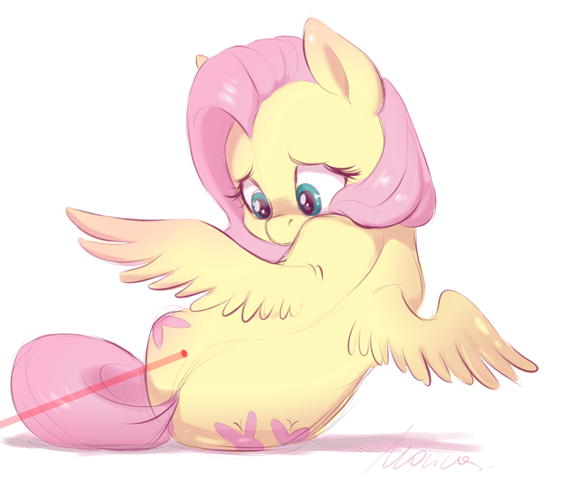 buttersprinkle acting like animals fluttershy - 9433104640