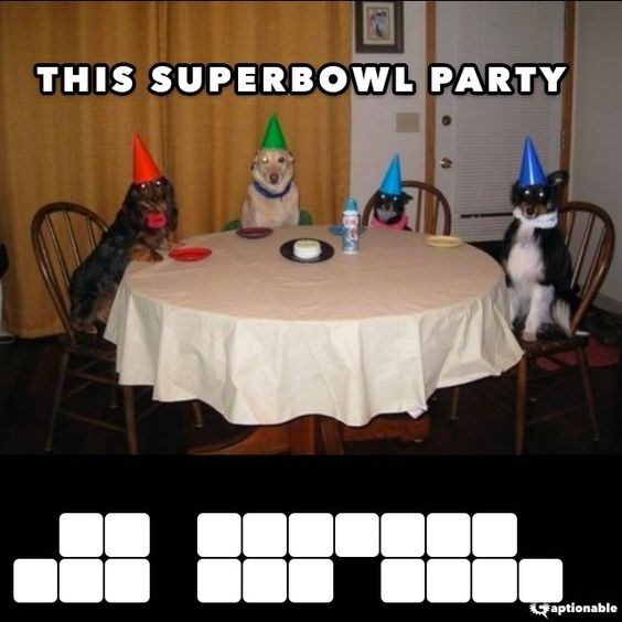 Table - THIS SUPERBOWL PARTY Captionable