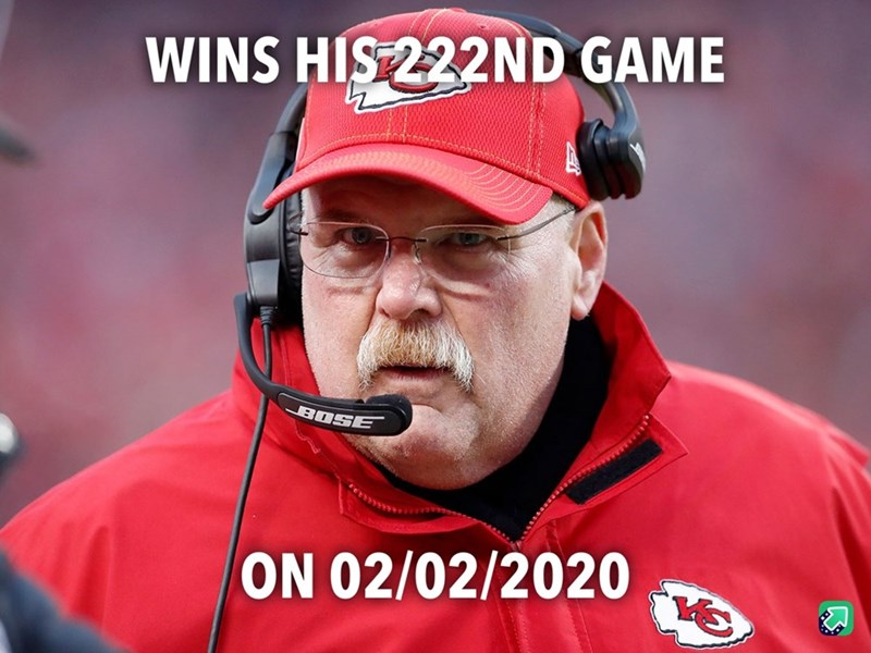 Facial hair - WINS HIS 222ND GAME BOSE ON 02/02/2020