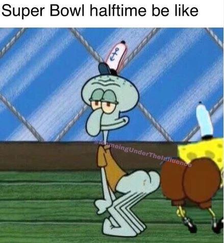 Animated cartoon - Super Bowl halftime be like meingUnderThelnfiuende