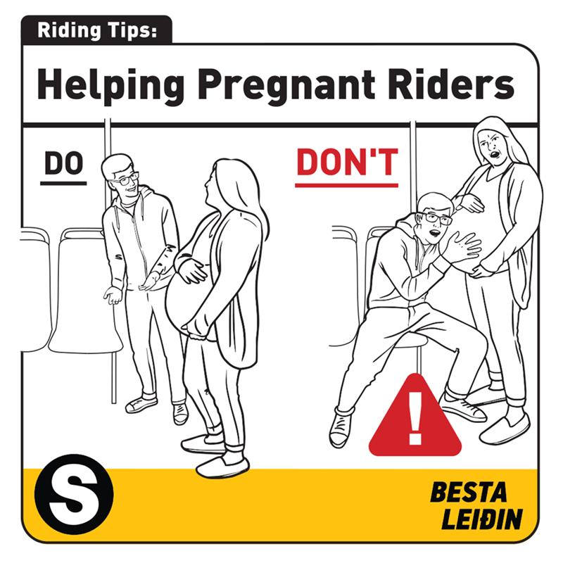 Line art - Riding Tips: Helping Pregnant Riders DON'T DO BESTA LEIÐIN %S4