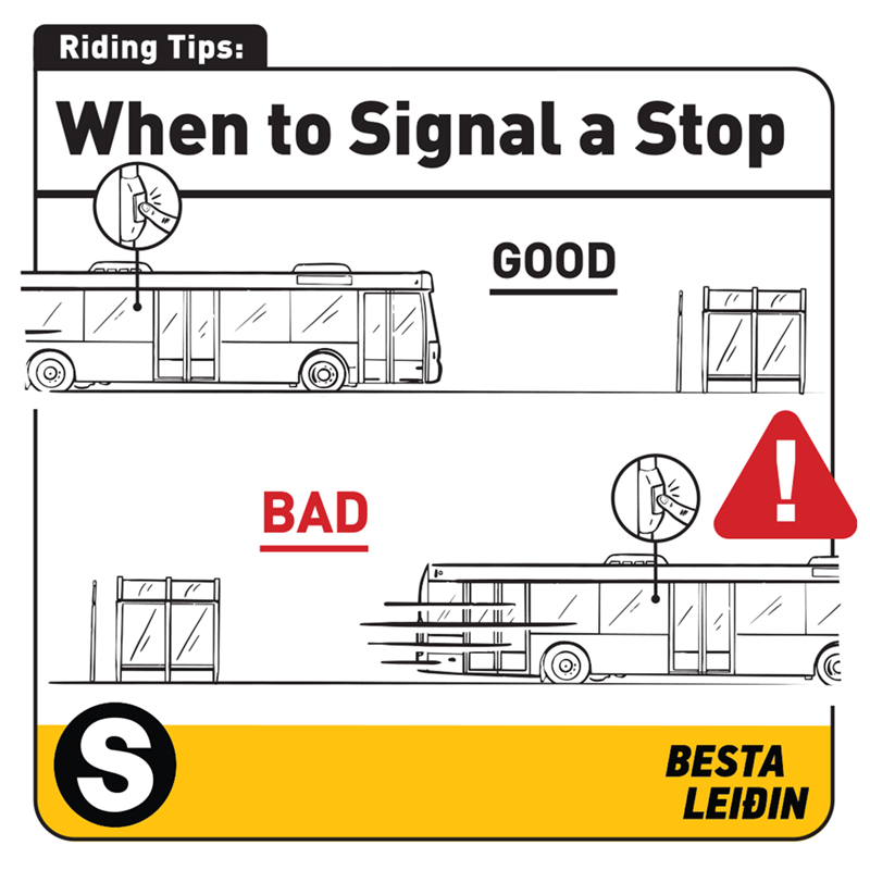 Motor vehicle - Riding Tips: When to Signal a Stop GOOD BAD BESTA LEIÐIN %24