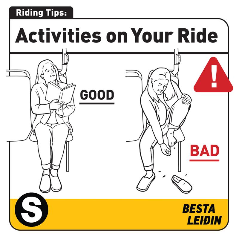 Text - Riding Tips: Activities on Your Ride GOOD BAD BESTA LEIÐIN