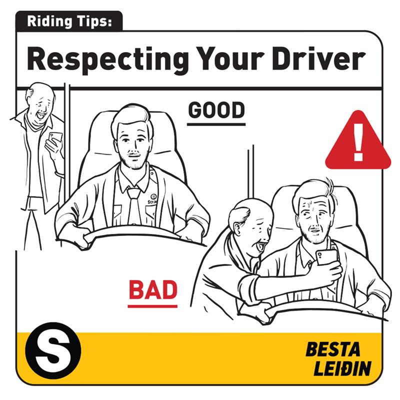 White - Riding Tips: Respecting Your Driver GOOD BAD BESTA LEIÐIN