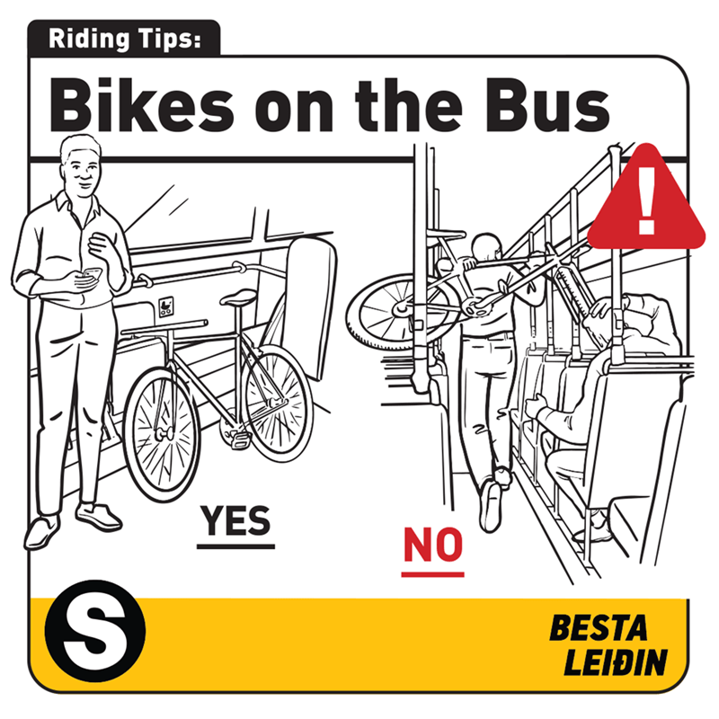Mode of transport - Riding Tips: Bikes on the Bus YES NO BESTA LEIÐIN