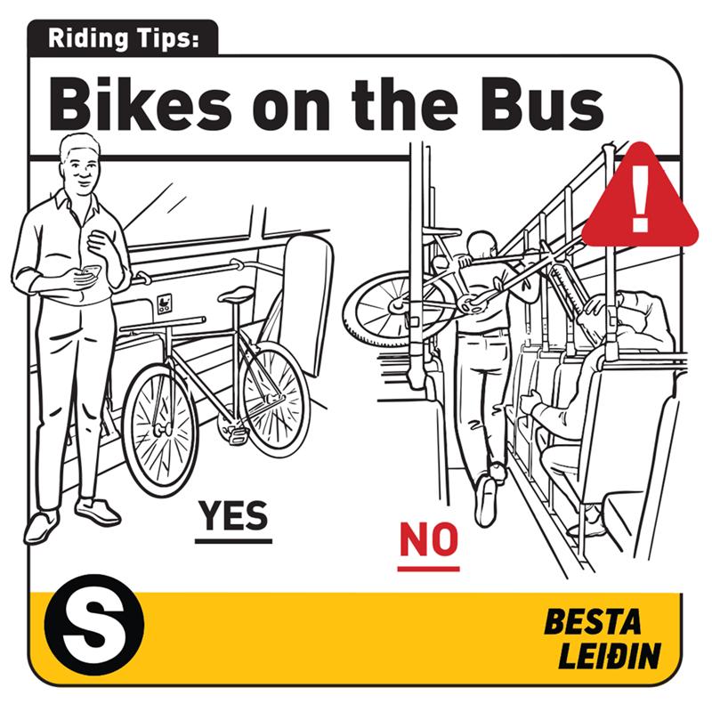 Mode of transport - Riding Tips: Bikes on the Bus YES NO BESTA LEIÐIN
