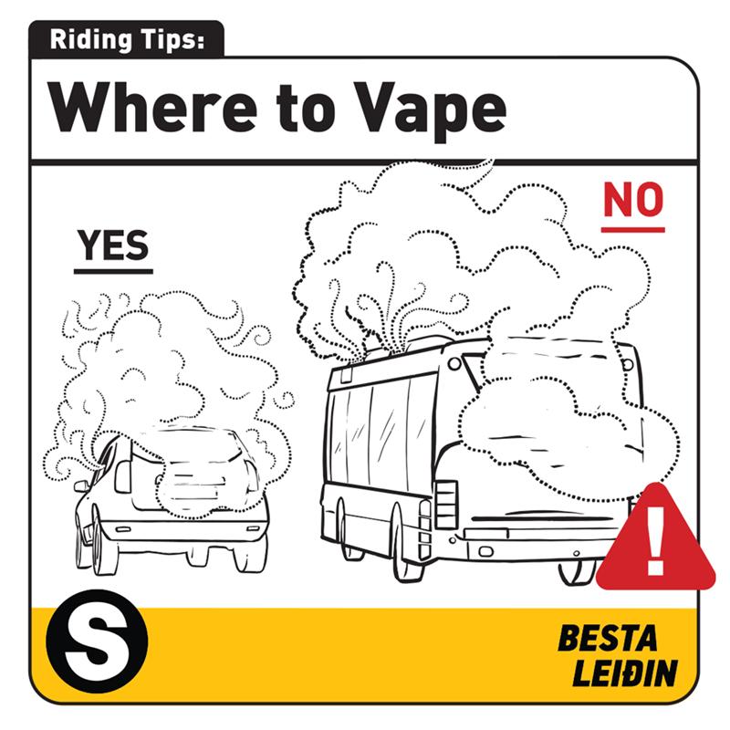 White - Riding Tips: Where to Vape NO YES BESTA LEIÐIN %24