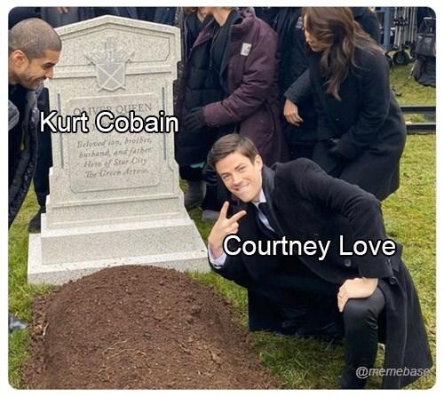 Grave - QUEEN Kurt Cobain Beloved son, brotber, banband, and farher Here of Star City The Green Arroia Courtney Love @memebase