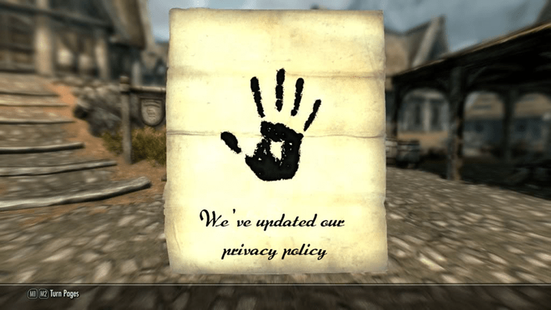 Finger - We ve updated сие privacy policy MI M2 Turn Pages