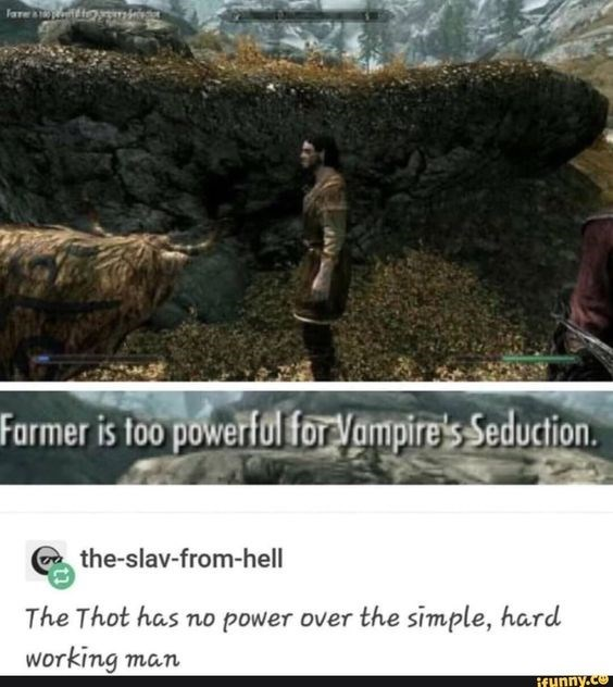 Adaptation - lare imh Farmer is foo powerful for Vampire's Seduction. the-slav-from-hell The Thot has no power over the simple, hard working таn ifHnny.ce