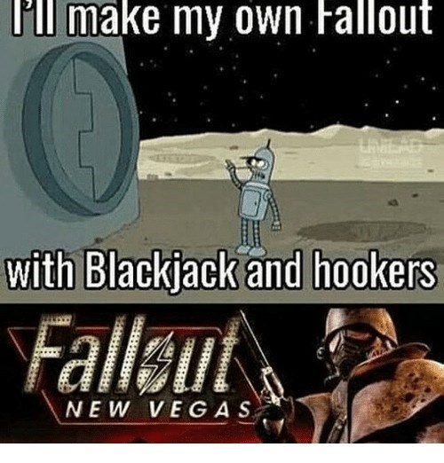 Font - P'll make my own Fallout LAMEAD with Blackjack and hookers Falleut NEW VEGAS
