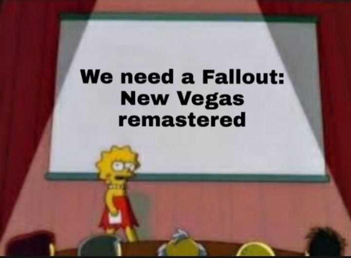 Cartoon - We need a Fallout: New Vegas remastered